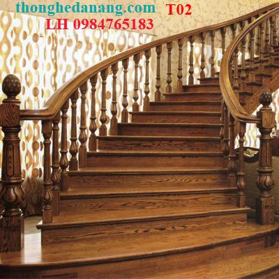 đóng cầu thang gỗ tạ đà nẵng